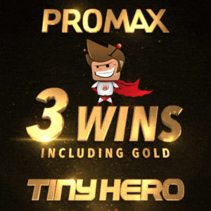TINY WINS 3 PROMAX AWARDS INCLUDING GOLD FOR OUR WORK ON AVENGERS!